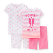Carter's® 4-pc. Pink Pajama Set - Toddler Girls - 2t-5t