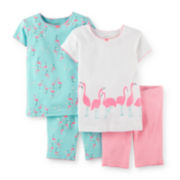 Carter's® 4-pc. Flamingo Pajama Set – Toddler Girls 2t-5t