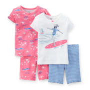 Carter's® 4-pc. Surf Girl and Boats Pajama Set - Toddler Girls 2t-5t