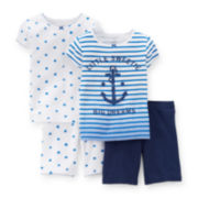 Carter's® 4-pc. Striped and Dot Pajama Set - Toddler Girls 2t-5t
