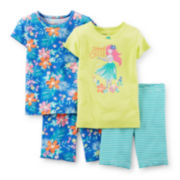 Carter's® 4-pc. Island Cutie Pajama Set – Toddler Girls 2t-5t