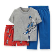 Carter's® 3-pc. Baseball Pajama Set - Baby Boys 12-24m