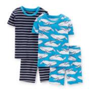 Carter's® 4-pc. Blue Pajama Set - Baby Boys 12-24m