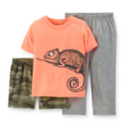 Carter's® 3-pc. Chameleon Pajama Set - Toddler Boys 2t-5t