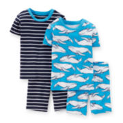 Carter's® 4-pc. Blue Pajama Set - Toddler Boys 2t-5t