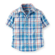 Carter's® Plaid Button-Front Shirt – Toddler Boys 2t-5t