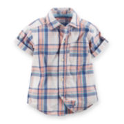 Carter's® Plaid Button-Front Shirt - Toddler Boys 2t-5t