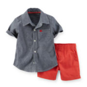 Carter's® Button-Front Shirt and Shorts Set - Toddler Boys 2t-5t
