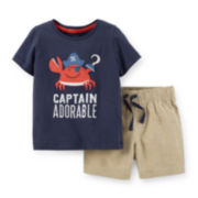 Carter's® Captain Tee and Shorts Set - Toddler Boys 2t-5t