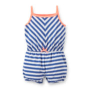 Carter's® Striped Cotton Romper - Baby Girls newborn-24m