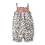 Carter's® Smocked Leopard Romper - Baby Girls newborn-24m