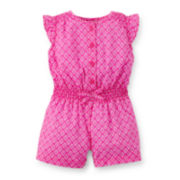Carter's® Print Cotton Romper – Baby Girls newborn-24m