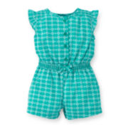 Carter's® Print Cotton Romper - Baby Girls newborn-24m