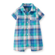 Carter's® Plaid Cotton Romper - Baby Boys newborn-24m