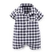 Carter's® Plaid Cotton Romper – Baby Boys newborn-24m