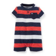 Carter's® Striped Cotton Romper - Baby Boys newborn-24m