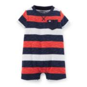 Carter's® Striped Cotton Romper - Baby Boys newborn-24m