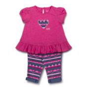Lee® Heart Tee and Leggings Set - Toddler Girls 2t-4t