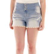 Almost Famous High-Waist Sailor Shorts - Plus
