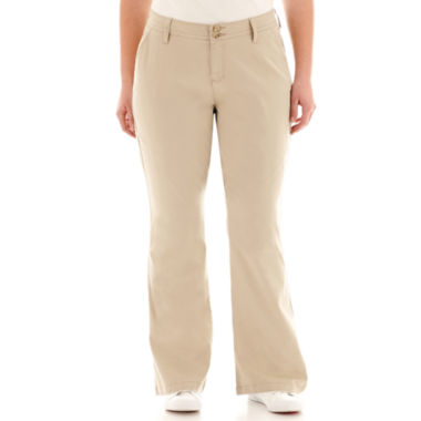 jcpenney.com | Arizona Schoolgirl Bootcut Pants-Juniors Plus