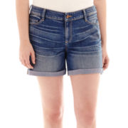 Arizona Roll-Cuff Jean Shorts - Plus