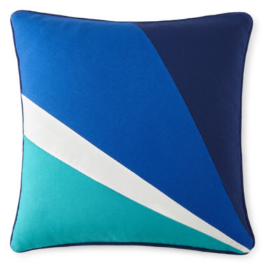 "jcpenney.com | Happy Chic by Jonathan Adler Zoe 18"" Pieced Square Decorative Pillow"