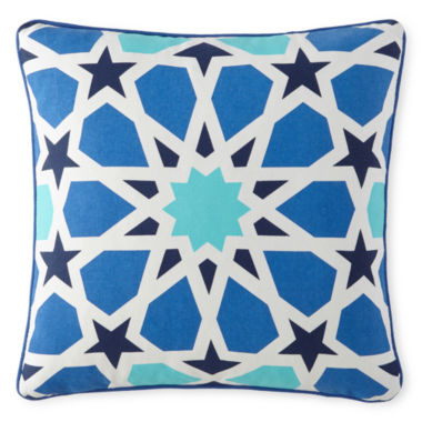 "jcpenney.com | Happy Chic by Jonathan Adler Zoe 16"" Stained Glass Square Decorative Pillow"