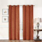 Medallion 2-Pack Blackout Grommet-Top Curtain Panels