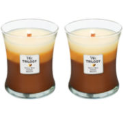 WoodWick® Set of 2 Medium Trilogy Café Sweets Candles