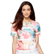 Worthington® Short-Sleeve Organza Blouse