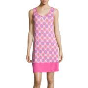 Jasmine Rose Sleeveless Print Nightgown