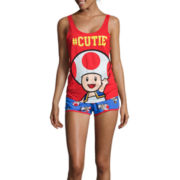 Nintendo® Toad Slouchy Tank Top and Shorts Pajama Set