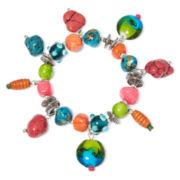 Aris by Treska Silver-Tone Multicolor Coil Bracelet