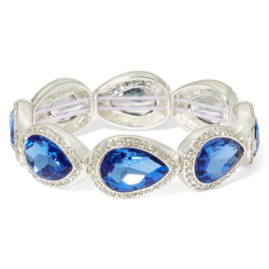 jcpenney.com | Monet® Blue Stone and Silver-Tone Stretch Bracelet