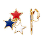 Liz Claiborne® Star Gold-Tone Clip-On Earrings