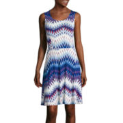 a.n.a® Sleeveless Fit-and-Flare Tank Sundress