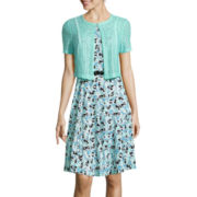 R&K Originals® Fit-and-Flare Jacket Dress