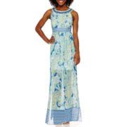 Studio 1® Sleeveless Jewel-Neck Maxi Dress - Petite