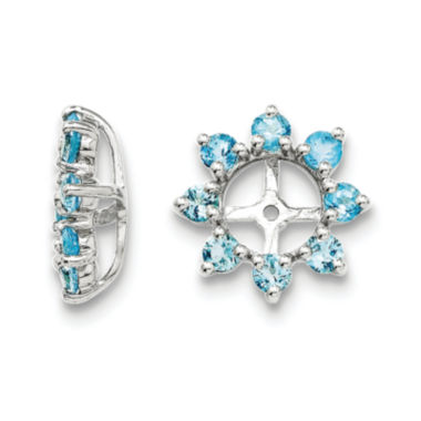 jcpenney.com | Genuine Swiss Blue Topaz Sterling Silver Earring Jackets