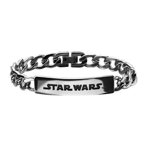 Star Wars® Mens Stainless Steel Logo ID Bracelet