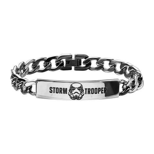 Star Wars® Mens Stainless Steel Stormtrooper ID Bracelet