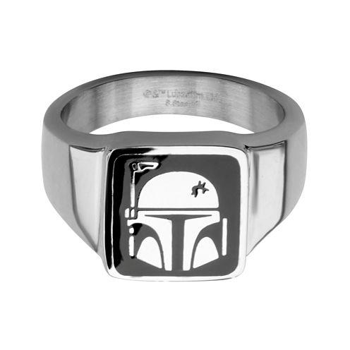 Star Wars® Stainless Steel Boba Fett Helmet Ring