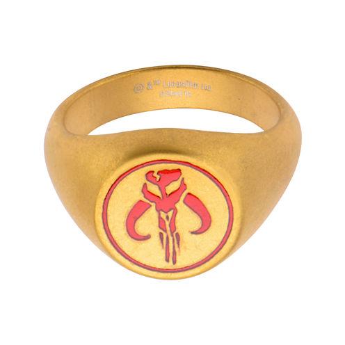 Star Wars® Gold-Tone Stainless Steel Mandalorian Symbol Ring