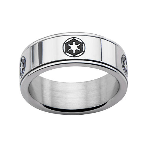 Star Wars® Stainless Steel Galactic Empire Symbol Spinner Ring