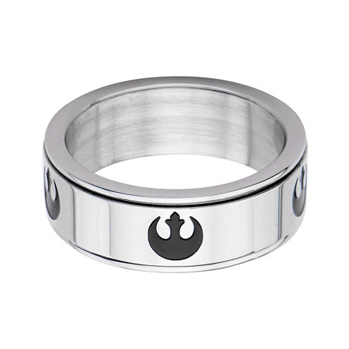 Star Wars® Stainless Steel Rebel Alliance Symbol Spinner Ring