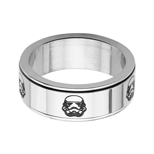 Star Wars® Stainless Steel Stormtrooper Spinner Ring