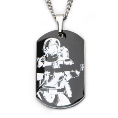 jcpenney.com | Star Wars® Episode 7 Mens Two-Tone Stainless Steel Stormtrooper Dog Tag Pendant Necklace