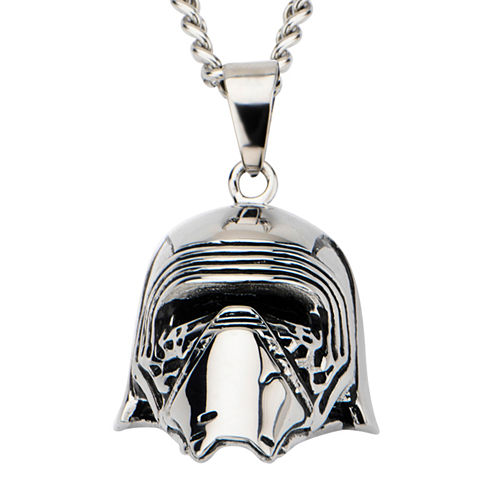 Star Wars® Stainless Steel Episode VII Kylo Ren 3D Pendant Necklace