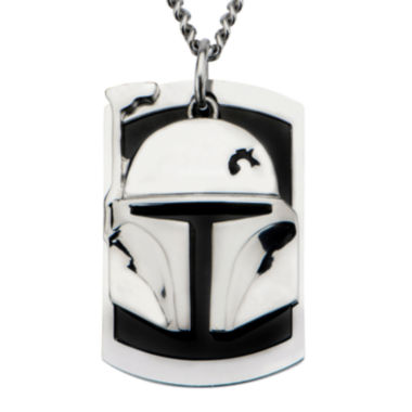 jcpenney.com | Star Wars® Two-Tone Stainless Steel Boba Fett Helmet Dog Tag Pendant Necklace