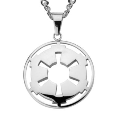 jcpenney.com | Star Wars® Stainless Steel Galactic Empire Symbol Cutout Pendant Necklace